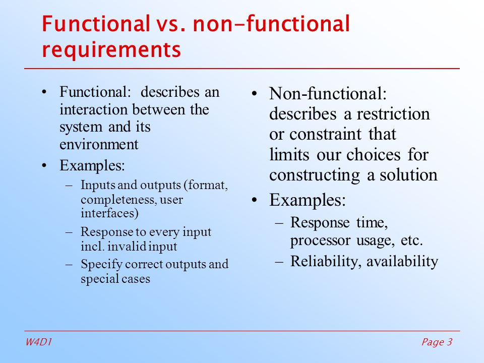 non functional requirements of hospital management system In systems engineering and requirements engineering, a non-functional requirement (nfr) is a requirement that specifies criteria that can be used to judge the operation of a system, rather than specific behaviors.
