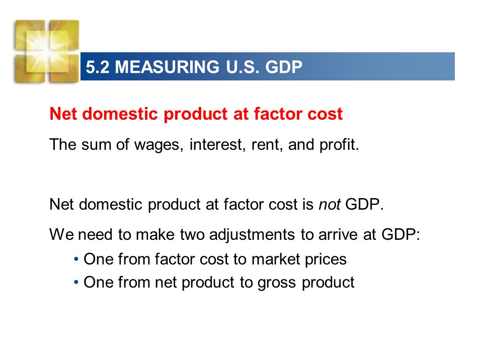 Net domestic product at factor cost