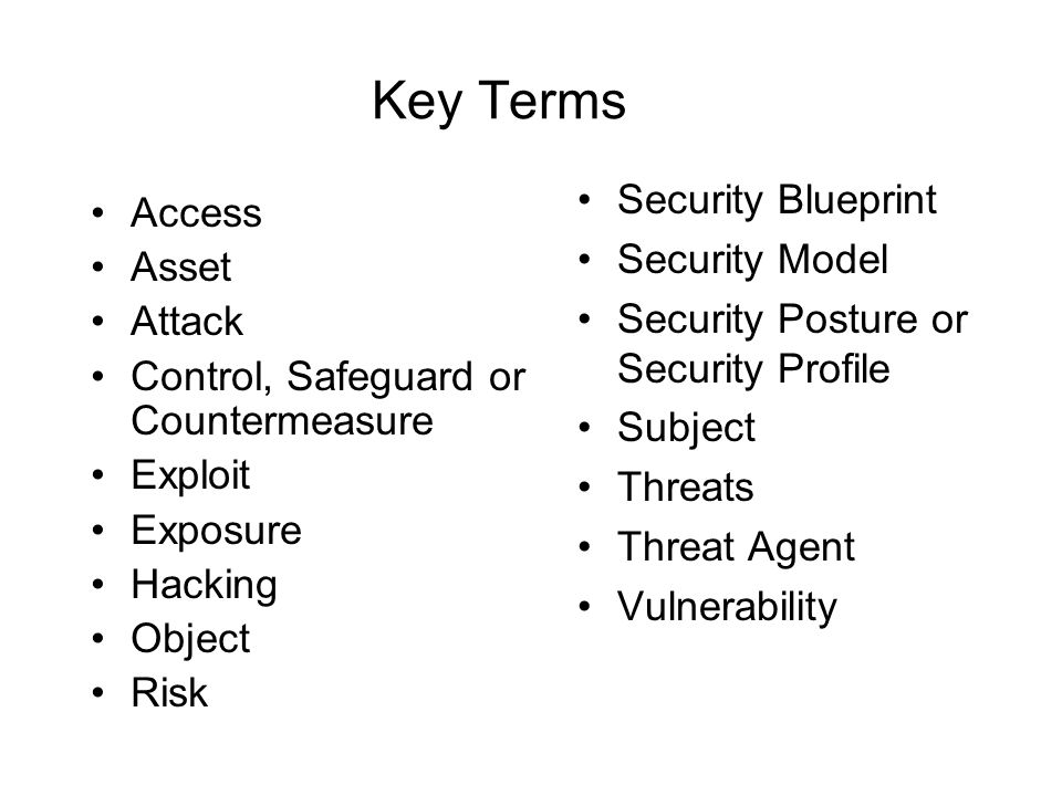 Introduction to information security ppt download key terms security blueprint access security model asset malvernweather Images