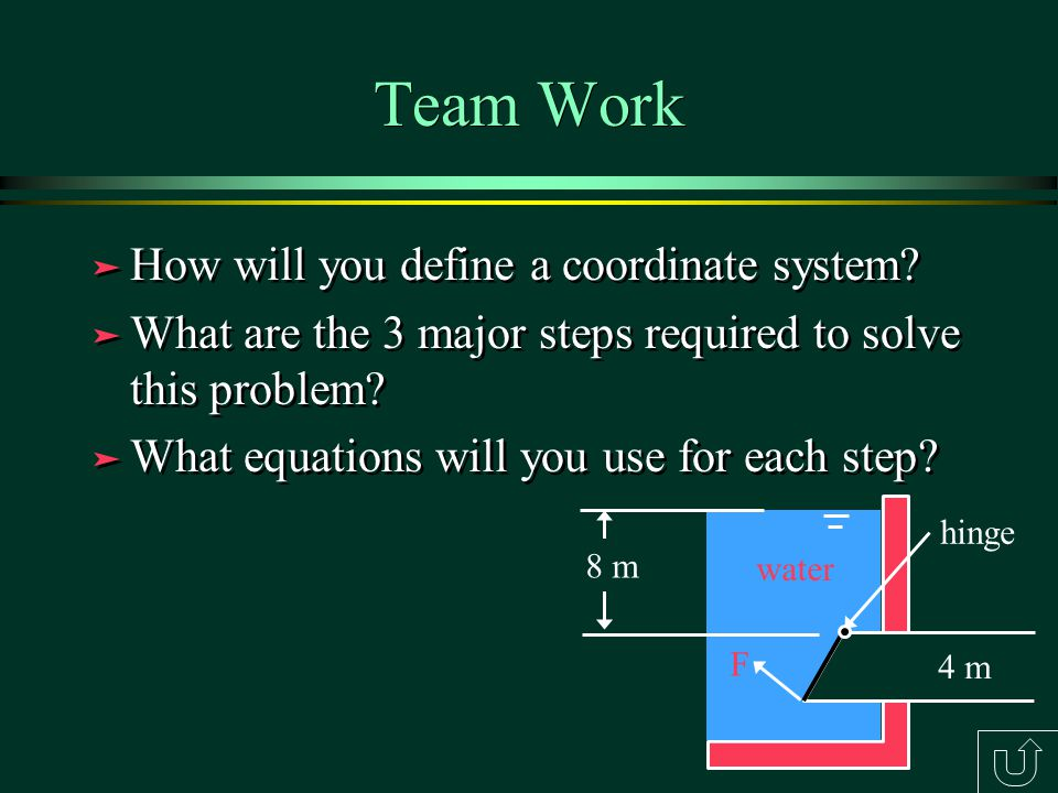 Team Work How will you define a coordinate system