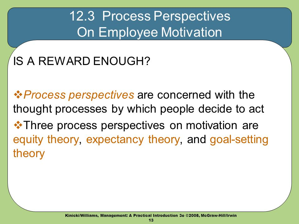 Explain the Process of Motivation in Detail