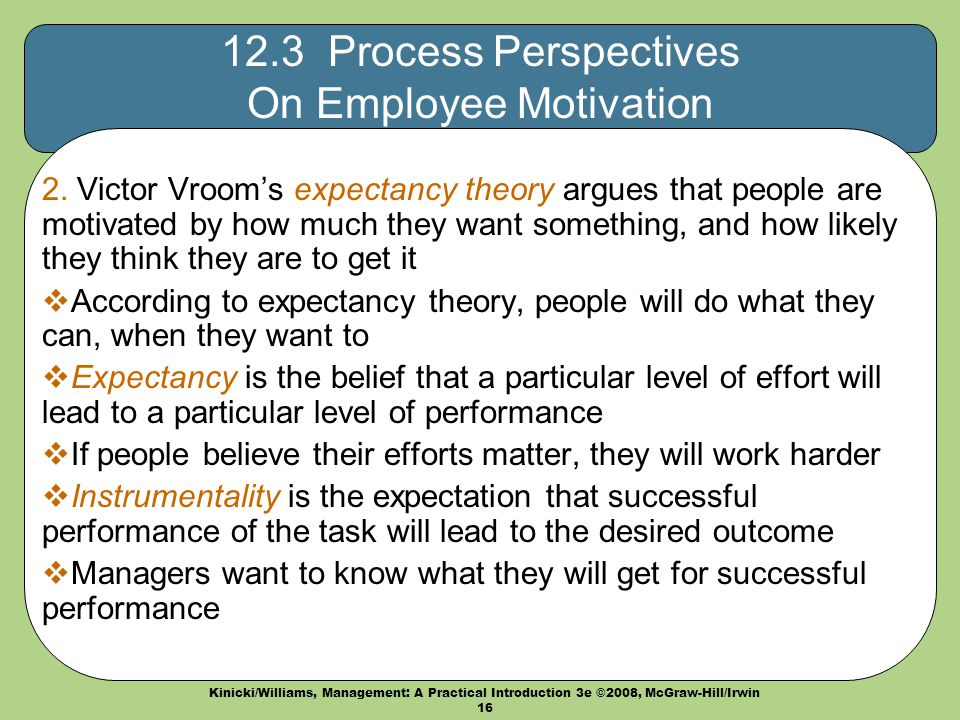 workplace motivational processes Findings suggest interesting work and good pay are key to higher employee motivation carefully designed reward systems that include job enlargement, job enrichment, promotions, internal and external stipends, monetary, and non-monetary compensation should be considered.