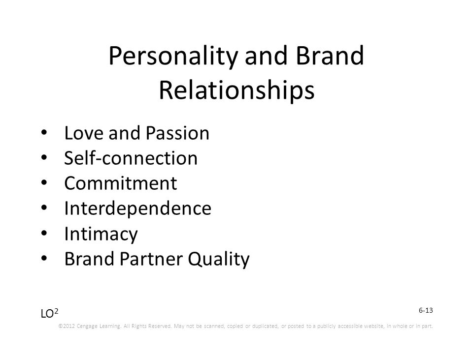 brand personality and relationship building