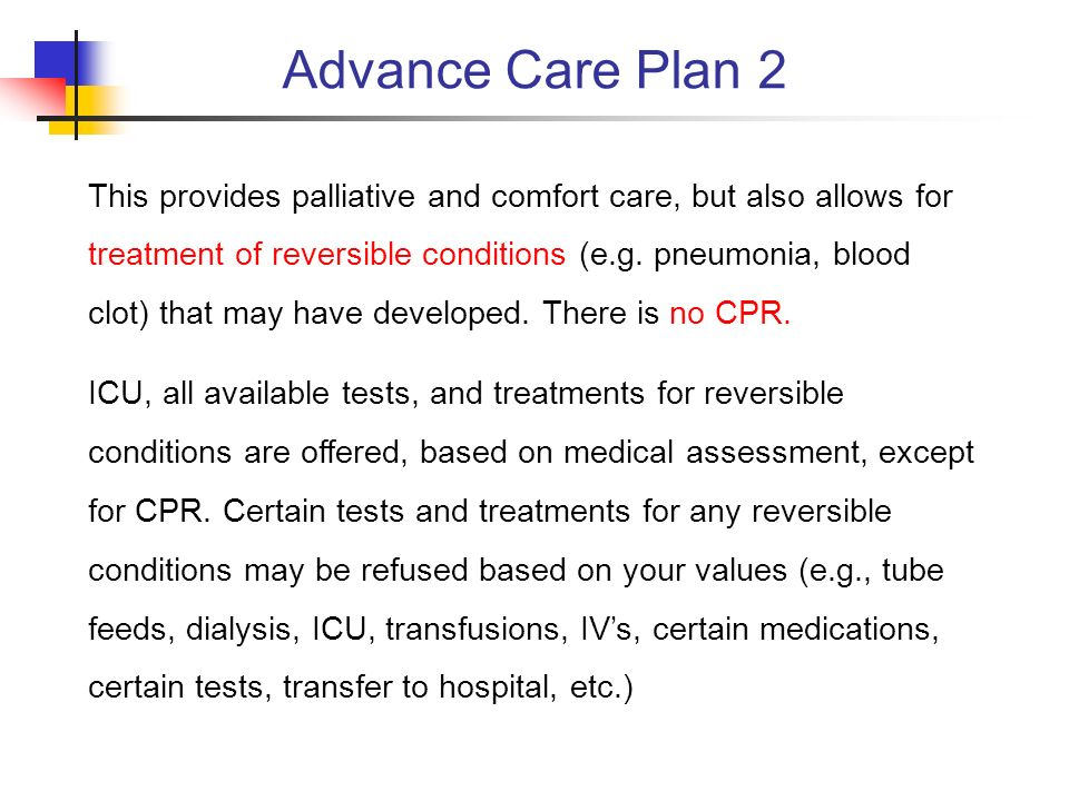 Advance Care Plan 2