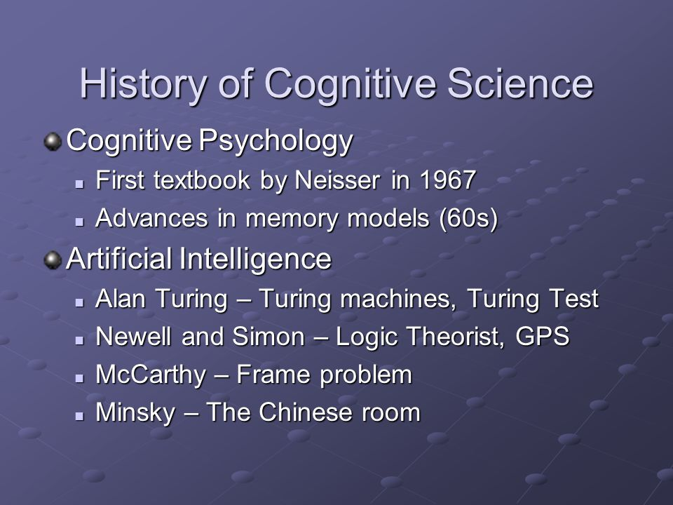 a short overview of cognitive psychology Cognitive psychology and cognitive neuroscience/memory  short term memory, and long term memory based on the period of time information is accessible after it is .