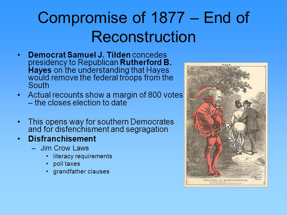 reconstruction or disfranchisement 14-jan-02: reconstruction in the post-civil war united states.