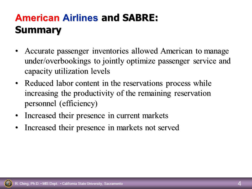 american airlines t sabre electronic reservations American airlines group inc said monday that it would use travel-technology company sabre to develop a single reservations system under american's merger with us airways financial terms were .