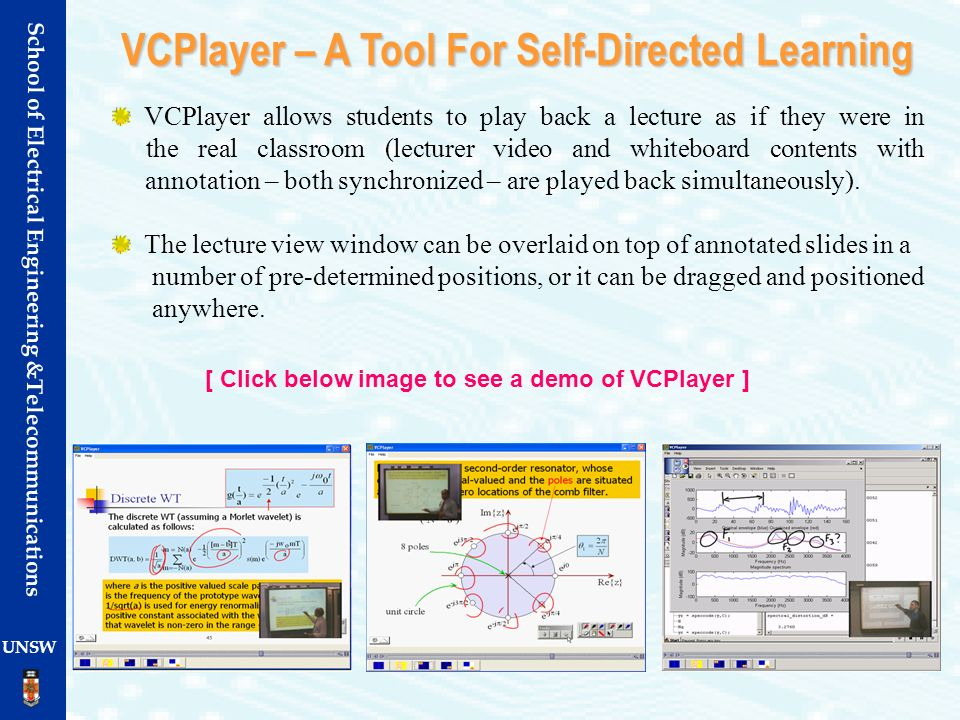 VCPlayer – A Tool For Self-Directed Learning