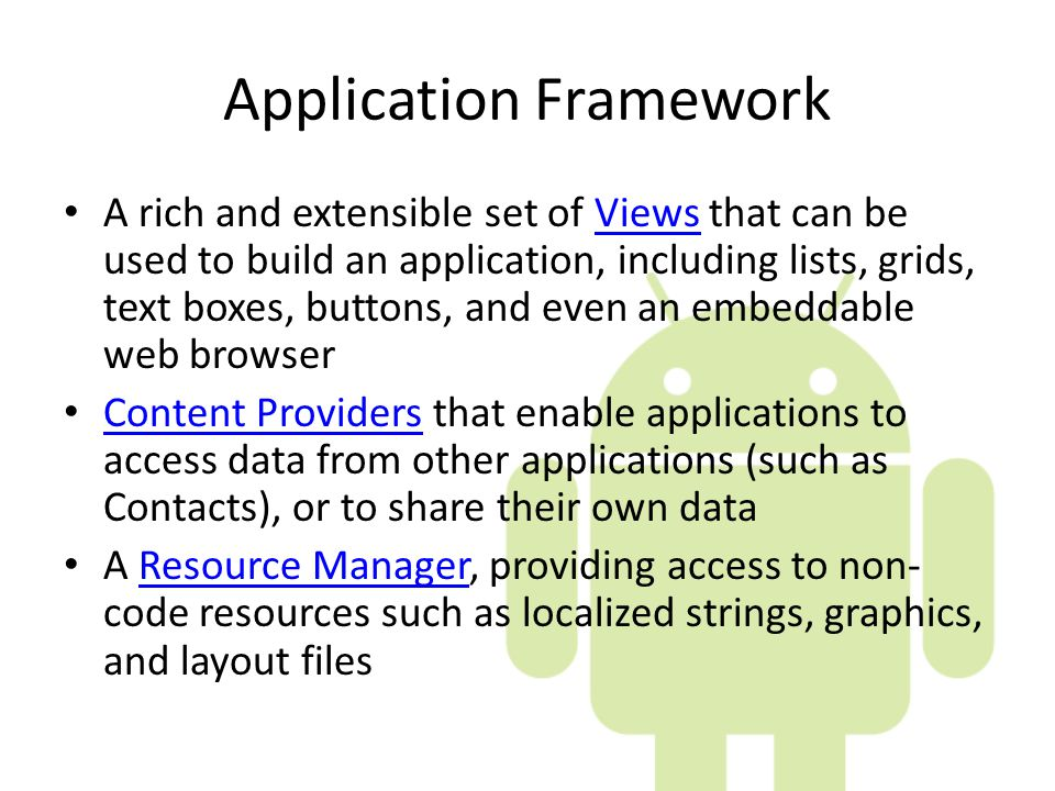 Application Framework