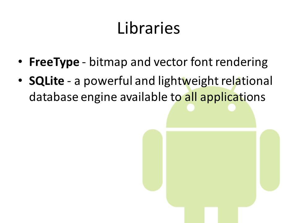 Libraries FreeType - bitmap and vector font rendering