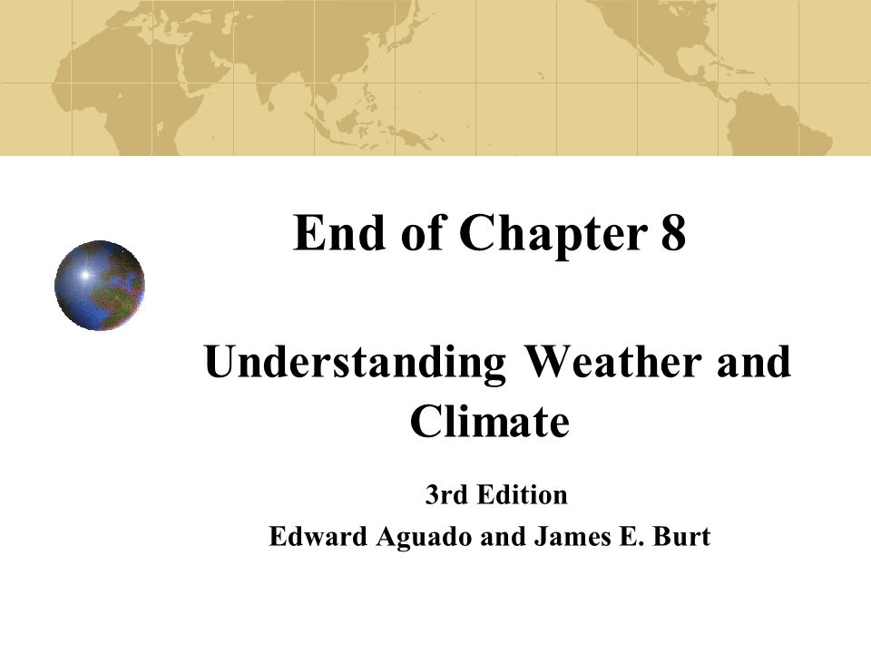 understanding weather and climate They should come away understanding the following:  knows ways in which  clouds affect weather and climate (eg, precipitation, reflection of light from the.