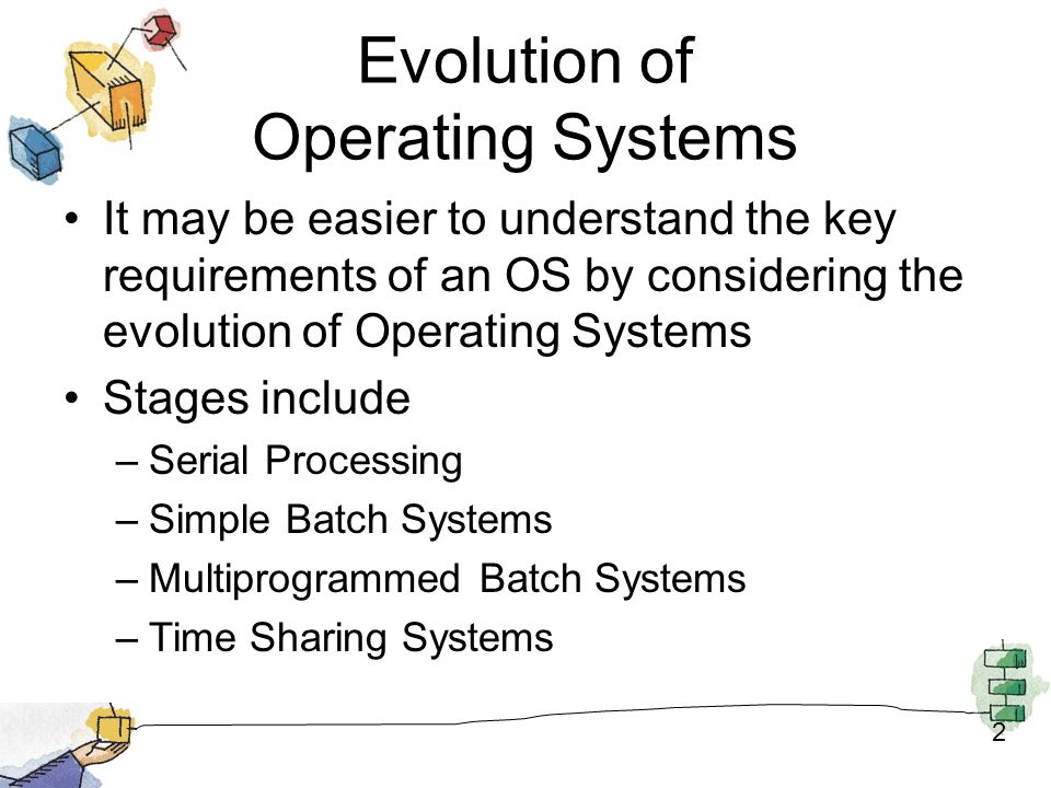 summary of evolution of computer Evolution of operating system: evolution of operating systems: user driven computer is required to run several programs at the same time.