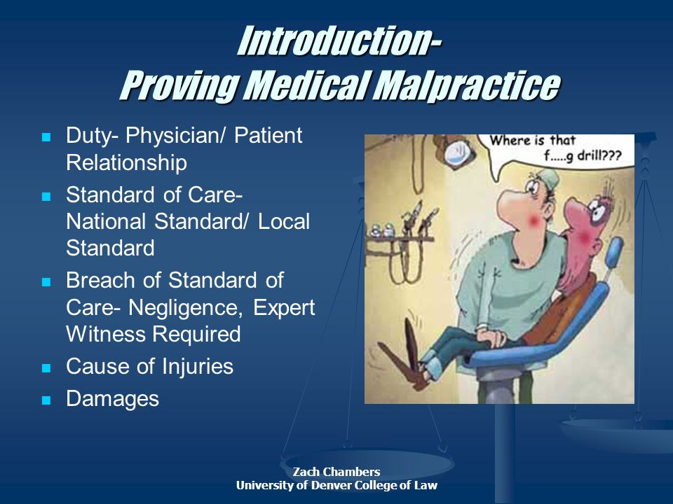 Introduction- Proving Medical Malpractice