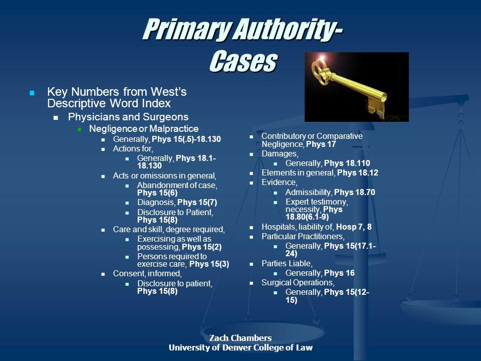 Primary Authority- Cases