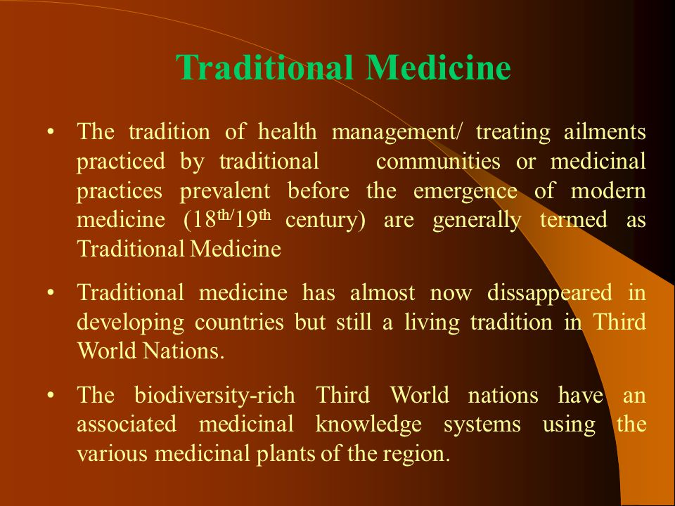 western views of non traditional medicines essay Integrating modern and traditional medicine: facts and figures if regulation of traditional and western medicines indigenous views collated worldwide 'for.