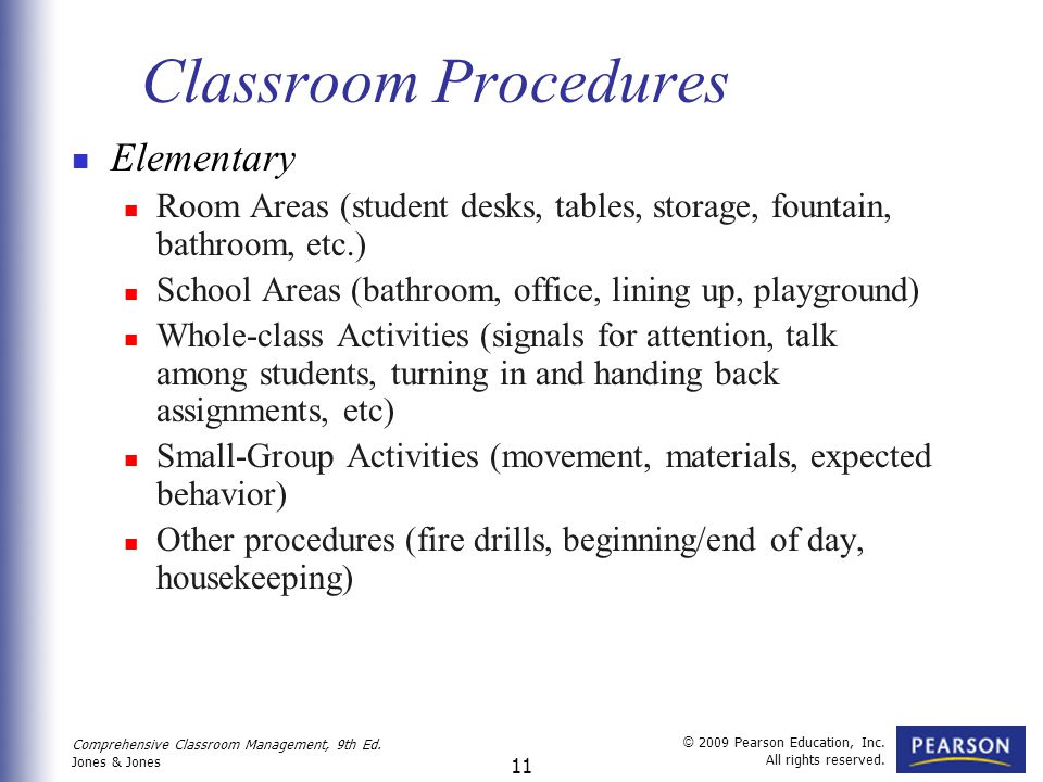 Elementary Classroom Procedures : Developing standards for classroom behavior ppt video