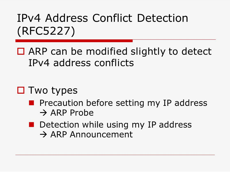 how to find ip address conflict