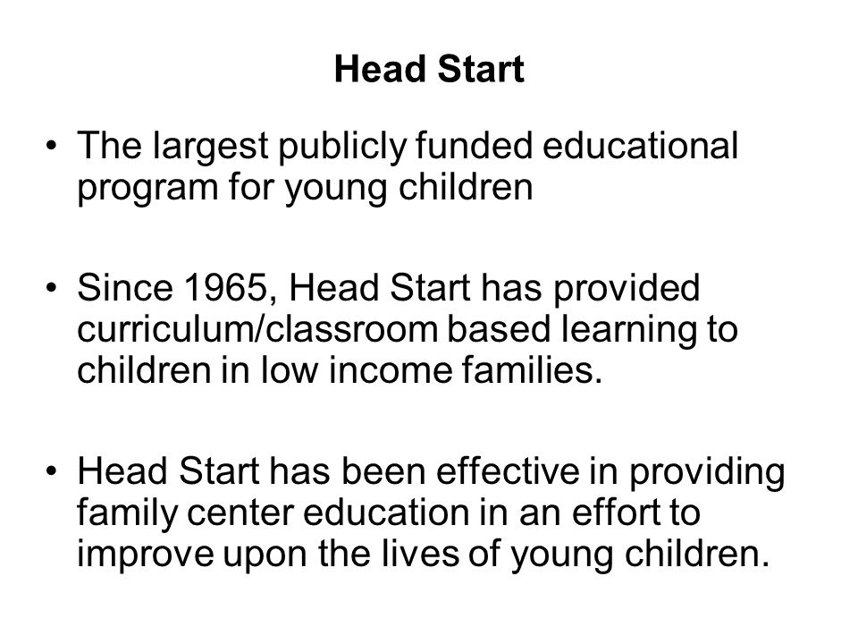 Introduction and History of Early Childhood Education ...