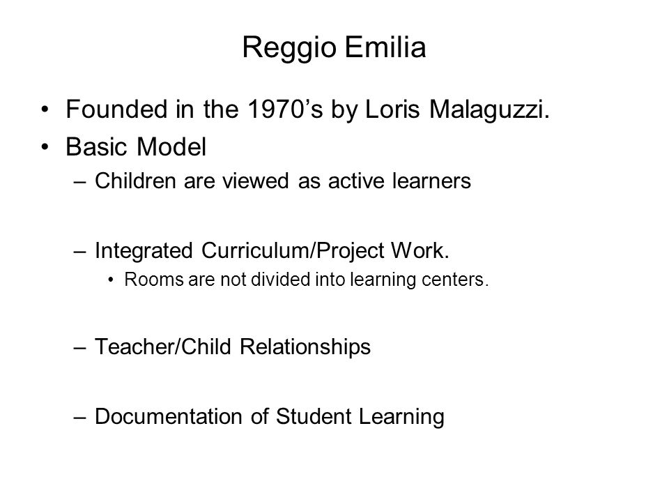similarities between reggio emilia and thematic approach Thematic probe: early years international themes final report number of similarities: and.