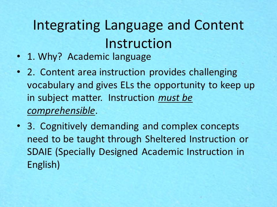 content area instruction Read chapter 4 content standards, curriculum, and instruction: in the movement toward standards-based education, an important question stands out: how w.