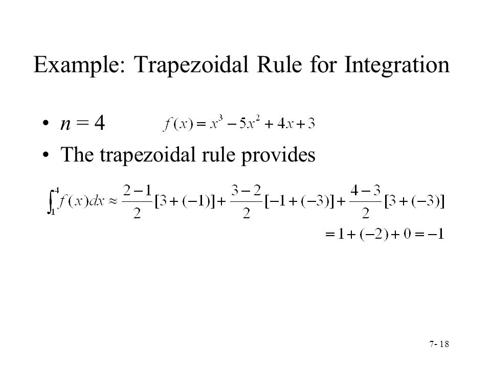 Example: Trapezoidal Rule for Integration
