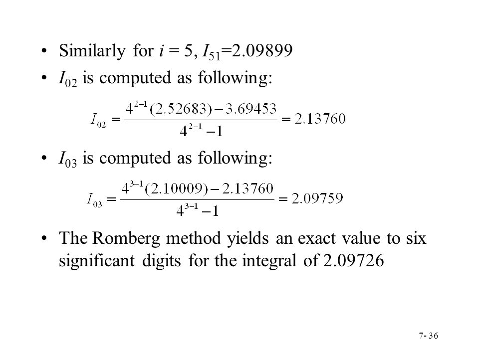 Similarly for i = 5, I51= I02 is computed as following: I03 is computed as following: