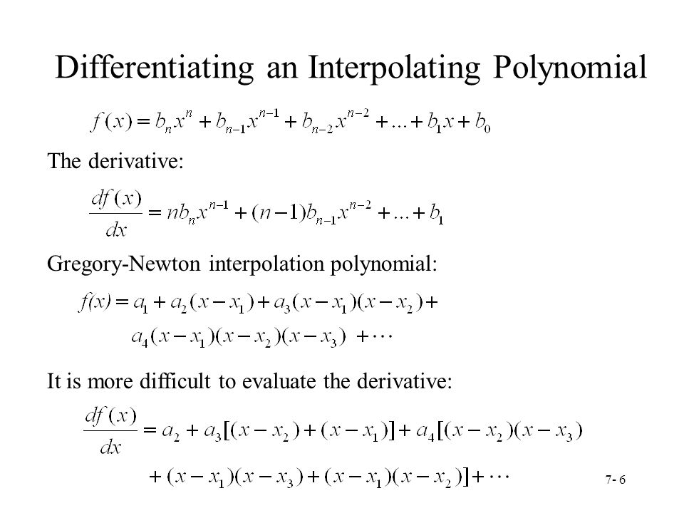 Differentiating an Interpolating Polynomial