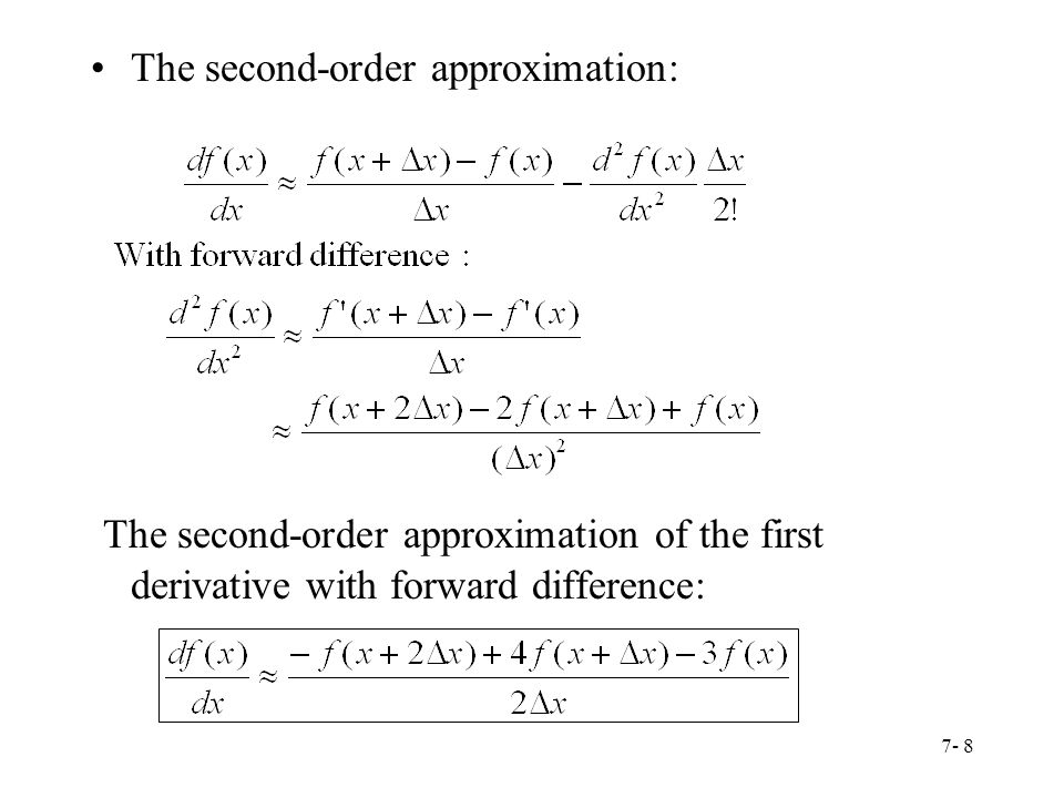 The second-order approximation: