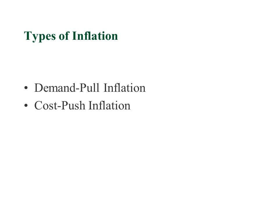 Types of Inflation Demand-Pull Inflation Cost-Push Inflation