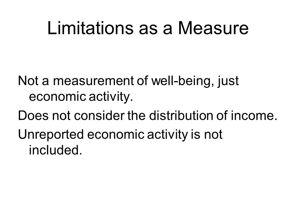 Limitations as a Measure