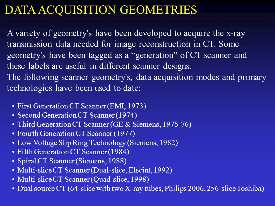 Ct Data Acquisition System : Xi national turkish medical physics congress ppt video