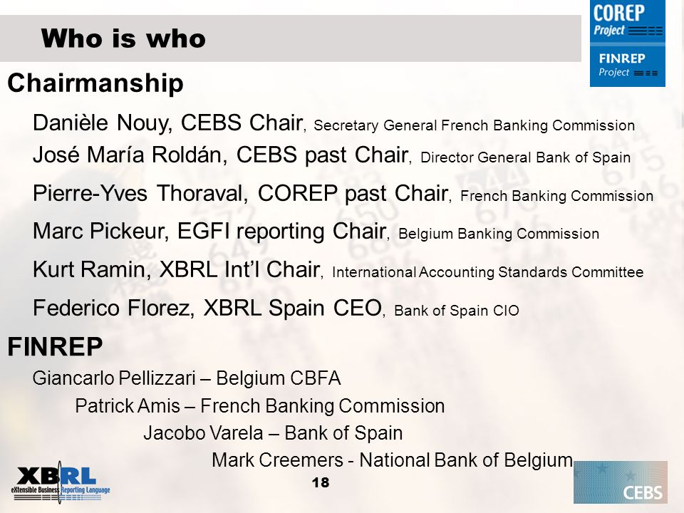 Pierre-Yves Thoraval, COREP past Chair, French Banking Commission