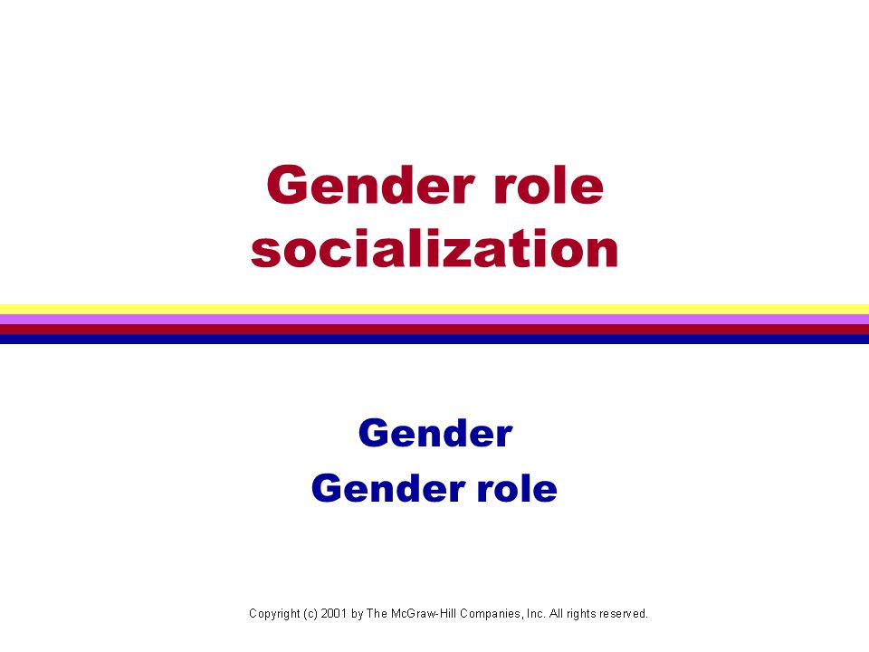 Gender role socialization