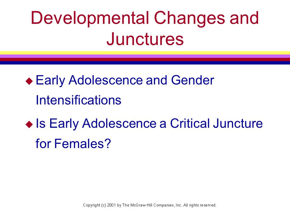 Developmental Changes and Junctures
