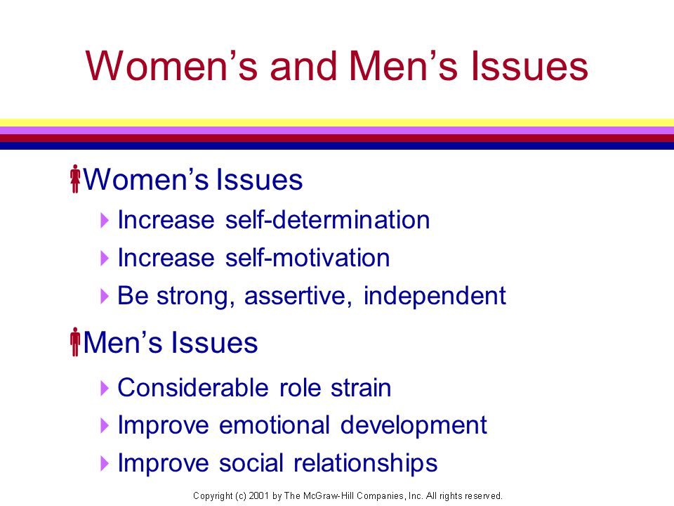 Women's and Men's Issues