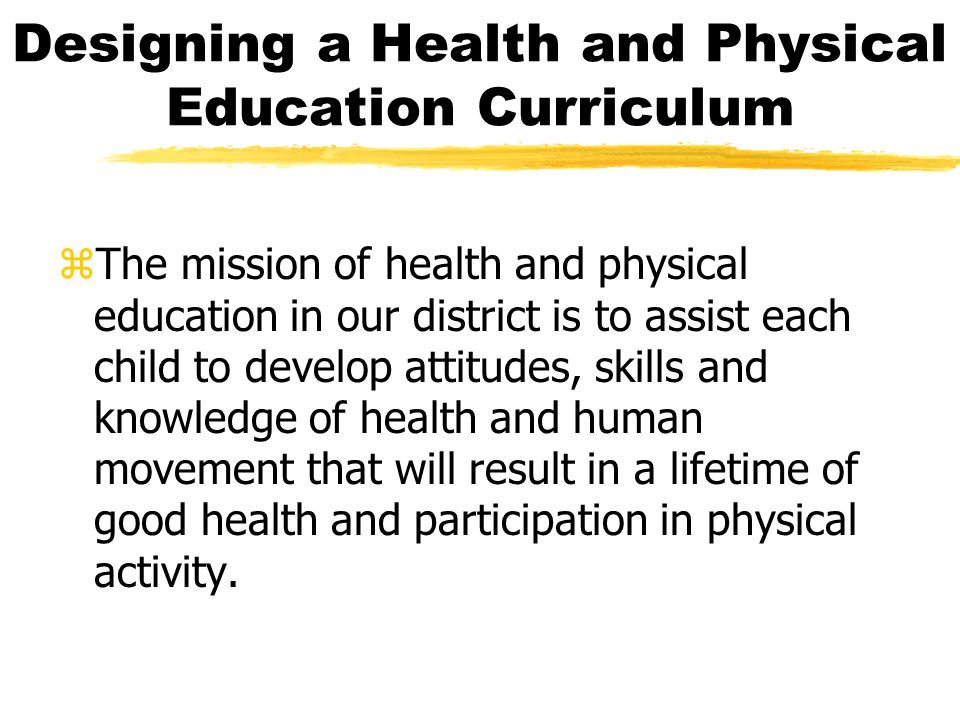 Designing a Health and Physical Education Curriculum