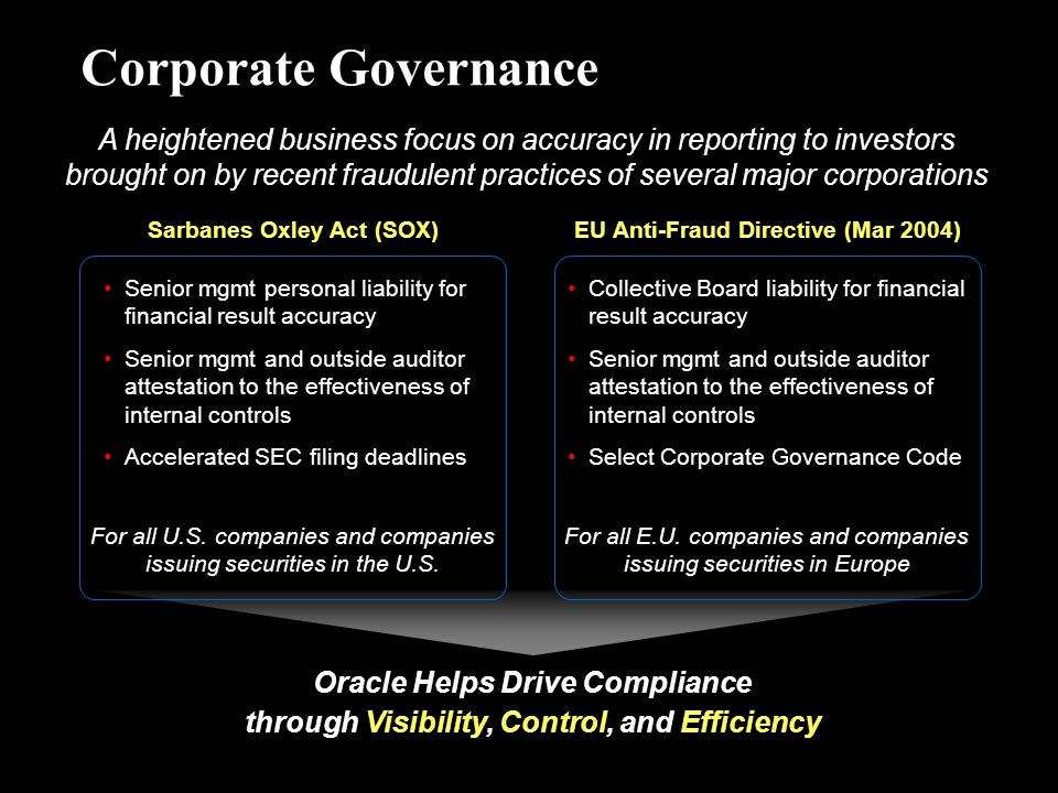 the issue of corporate fraud and the efficency of the sarbanes oxley act of 2002 in combating it The first year of the sarbanes-oxley act has produced an  the act also  provided welcome new enforcement tools to combat corporate fraud, punish  corporate  issues embedded in the need for improved corporate governance   and works full-time on the sec's efficiency and operational effectiveness.