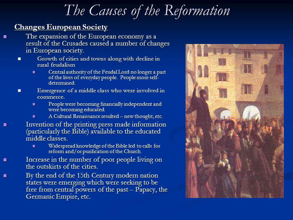 Brief Notes on the causes for the Decline of Feudalism