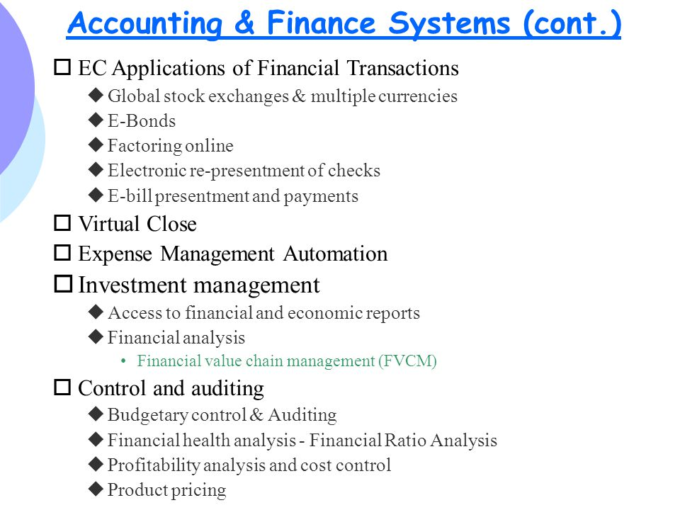 financial analysis and control systems Debt management and financial analysis system (dmfas) page content unctad, through its dmfas programme , is firmly established as one of the leading international organizations in the field of debt management capacity-building.