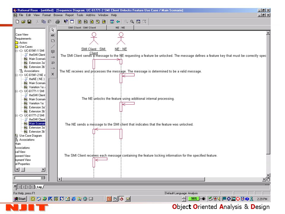 this picture shows the main scenario as a sequence diagram in the rational rose tool - How To Draw Use Case Diagram In Rational Rose