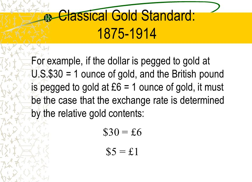The classical gold standard