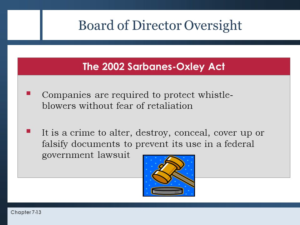 Board of Director Oversight