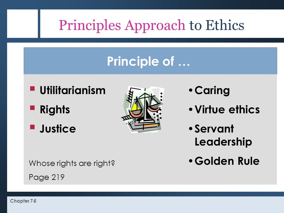 Principles Approach to Ethics