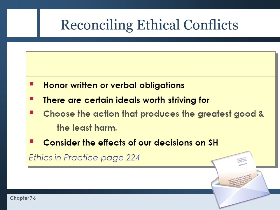 Reconciling Ethical Conflicts
