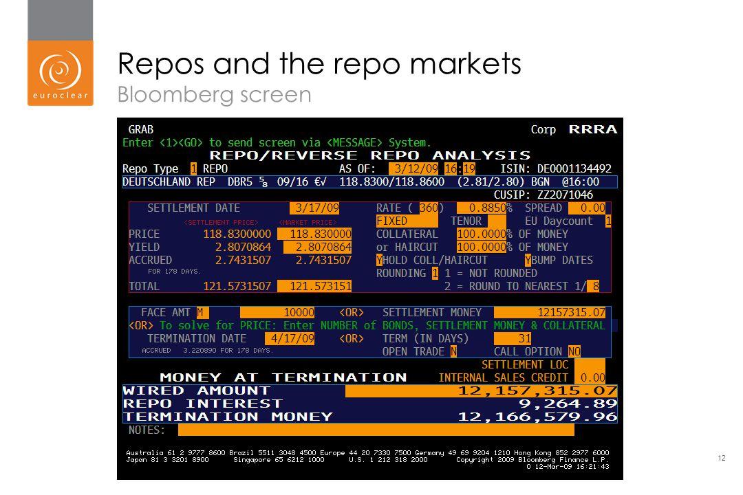 the repo market Repo workshop repo, bonds & derivatives manila, january 2018 richard comotto  which will go on special in the repo market --- offer of cheap cash.