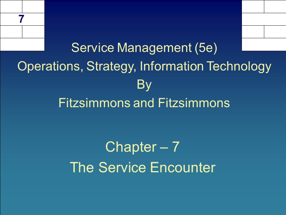 service encounter triad