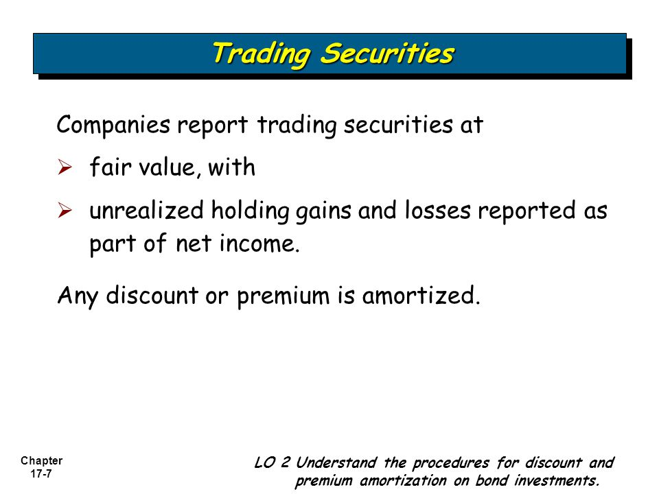 Trading Securities Companies report trading securities at