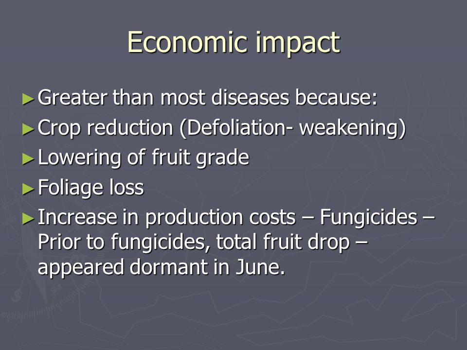 Economic impact Greater than most diseases because: