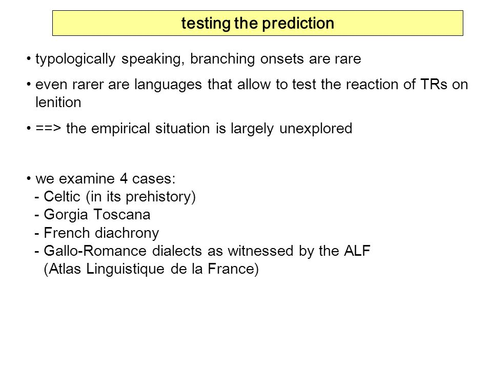 testing the prediction