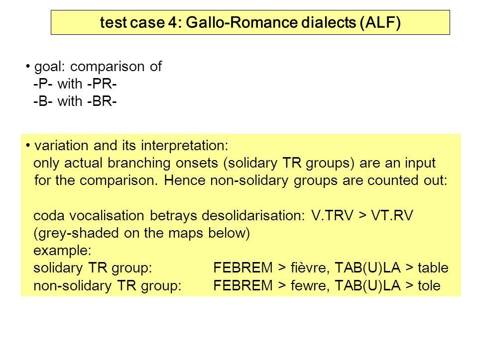 test case 4: Gallo-Romance dialects (ALF)
